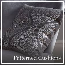black patterned cushions cushions the range