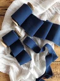navy blue ribbon navy blue ribbon 2 dyed ribbon navy cotton ribbon bridal