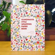 book wrapping paper 7321 design scandinavia style wrapping paper book with gift tag