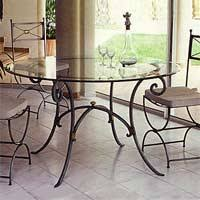 table de cuisine en fer forgé tables de repas fer forgé patines anciennes tables de repas fer forgé