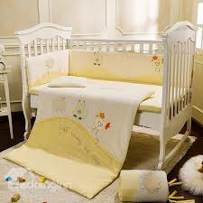 Crib Bedding Pattern Lovely Sheep Cat And Chicken Pattern Crib Bedding Set Beddinginn
