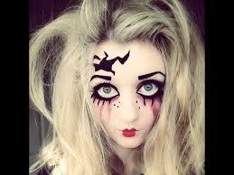 Creepy Doll Costume Halloween Makeup Tutorial Creepy Doll Youtube