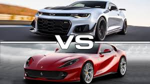 camaro zl1 vs corvette 2018 chevrolet camaro zl1 vs 2018 812 superfast