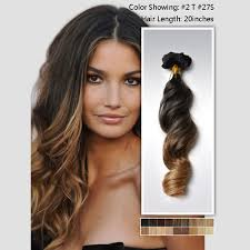 ombre clip in hair extensions two color 2 27 ombre clip in hair extensions peruvian hair