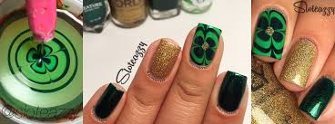nail art tutorial four leaf clover water marble nail it