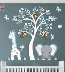 Boy Nursery Wall Decal Baby Boy Wall Decal Nursery White Tree By Littlebirdwalldecals