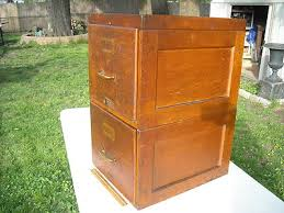 Oak File Cabinet 2 Drawer Remarkable Vintage Oak Filing Cabinet With Stacking File Cabinets