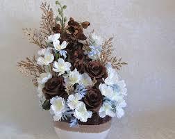Silk Flower Arrangements For Office - silk flower arrangement in a ceramic owl vase with coral