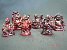 six buddha statues