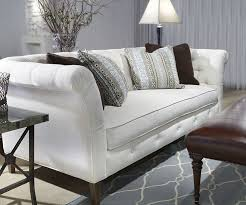 Norwalk Furniture Sleeper Sofa Norwalk Furniture Sofa Silver Leather Covering With Nail Heads