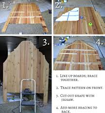 Wood Headboard Diy Cheap And Easy Diy Headboard Made From Cedar Fence Pickets