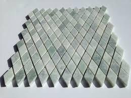 ming green marble diamond pattern mesh mounted mosaic tile
