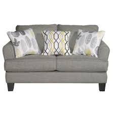 casual contemporary stone gray loveseat bryn rc willey
