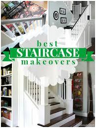 Refinish Banister Railing Remodelaholic Diy Stair Banister Makeover Using Gel Stain