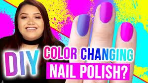 diy color changing nail polish makeup mythbusters w karina