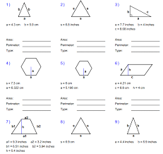 area of regular polygons worksheet geometry area geometry of