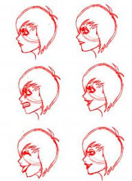 face drawing side