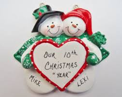 couple 1st christmas personalized ornament couple