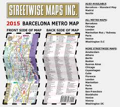 Barcelona Subway Map by Streetwise Barcelona Metro Map Laminated Metro Map Of Barcelona