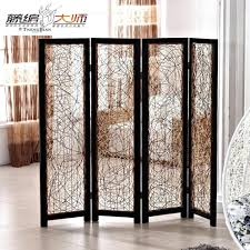 privacy screen room divider room dividers ideas for studios cream 6 panel wooden slat divider