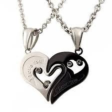 heart couple necklace images Couple heart necklace all collections of necklace jpg