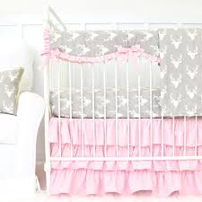 Baby Deer Crib Bedding Pink And Grey Crib Bedding Caden