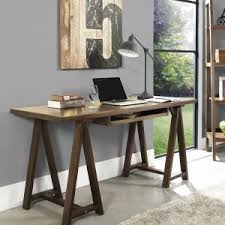 Sawhorse Trestle Desk Furniture Trestle Desk Legs And Sawhorse Desk