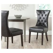 Safavieh Dining Chair Columbo High Back Dining Chair Wood Black Set Of 2 Safavieh