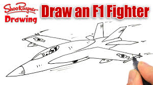 margarita drawing how to draw an f 18 fighter plane youtube