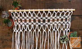 how to macrame a room divider the home depot