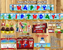 mario birthday party mario birthday party kit by instbirthday on zibbet