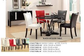 cm3177 black or white lacquer table w 4 chairs