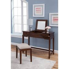 Table Vanity Mirror Makeup Vanities Bedroom Furniture The Home Depot