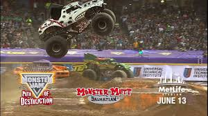 blue thunder monster truck videos monster jam path of destruction in east rutherford nj youtube