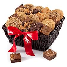mrs fields brownies mrs fields brownie cookie gift basket home kitchen