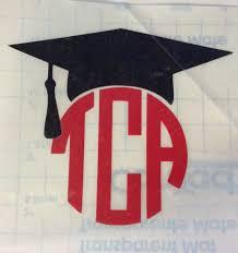 graduation cap for sale circle monogram graduation cap mortarboard decal sale car home