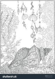 seashells coloring pages seashell border frame ocean pattern