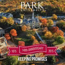 park university report to investors 2014 2015 by park university