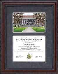 harvard diploma frame diploma frame with diploma frame with harvard cus lithograph