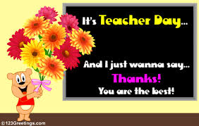 a wish on day free teachers day ecards greeting