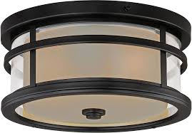 Outdoor Flush Mount Ceiling Light Vaxcel T0090 Cadiz Rubbed Bronze Exterior Flush Mount Ceiling