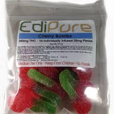 thc edible edipure edible gummies 250mg thc 5 flavors canna shop
