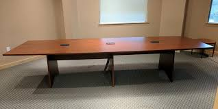 12 ft conference table images of 12 ft cherry laminate boat shape conference table