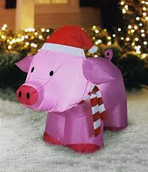 christmas pig airblown outdoor christmas pig 3 ft