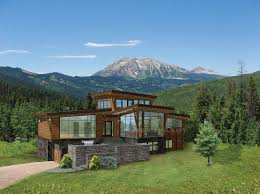 contemporary mountain home plans modern and contemporary timber