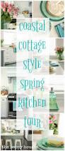 Coastal Cottage Kitchen - coastal cottage style spring kitchen tour the happy housie
