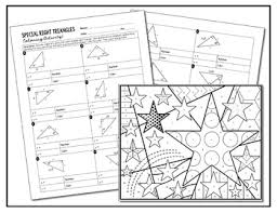 special right triangles coloring activity by all things algebra tpt