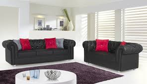 Chesterfield Black Sofa Chesterfield Sofa In Black Bonded Leather By W Options
