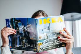 ikea catalogue reading ikea catalogue editorial image image of decisions 51129360