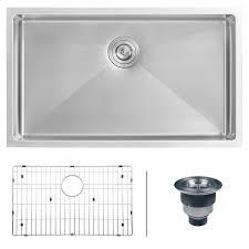 Stainless Steel Undermount Kitchen Sink by Ruvati 16 Gauge Stainless Steel 30 Inch Single Bowl Undermount